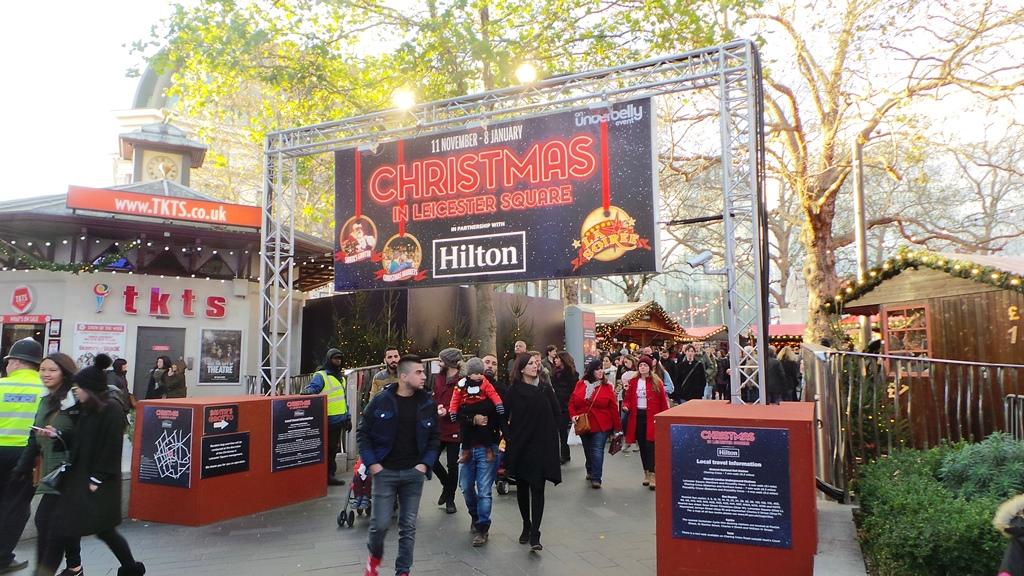 Marché de Noël à Londres : Leicester Square
