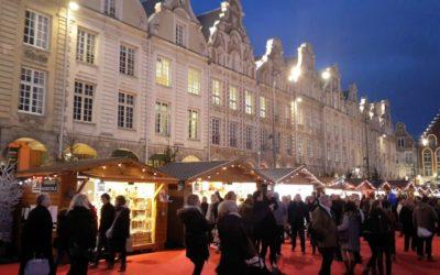 Le marché de Noël de Arras dans le Pas-de-Calais