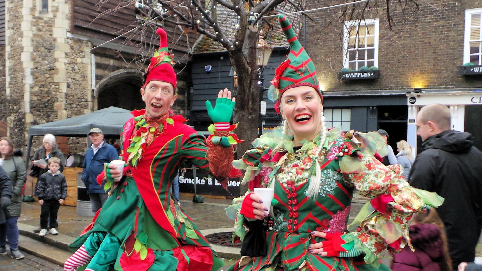 Des lutins au marché de Noël de Rochester