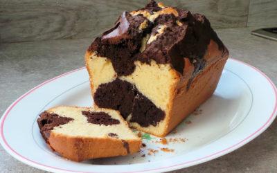 Gâteau marbré vanille et cacao