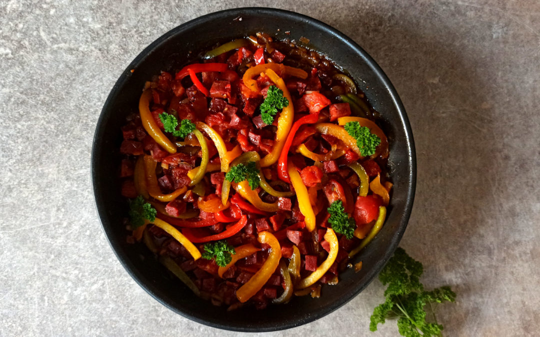 Piperade au chorizo