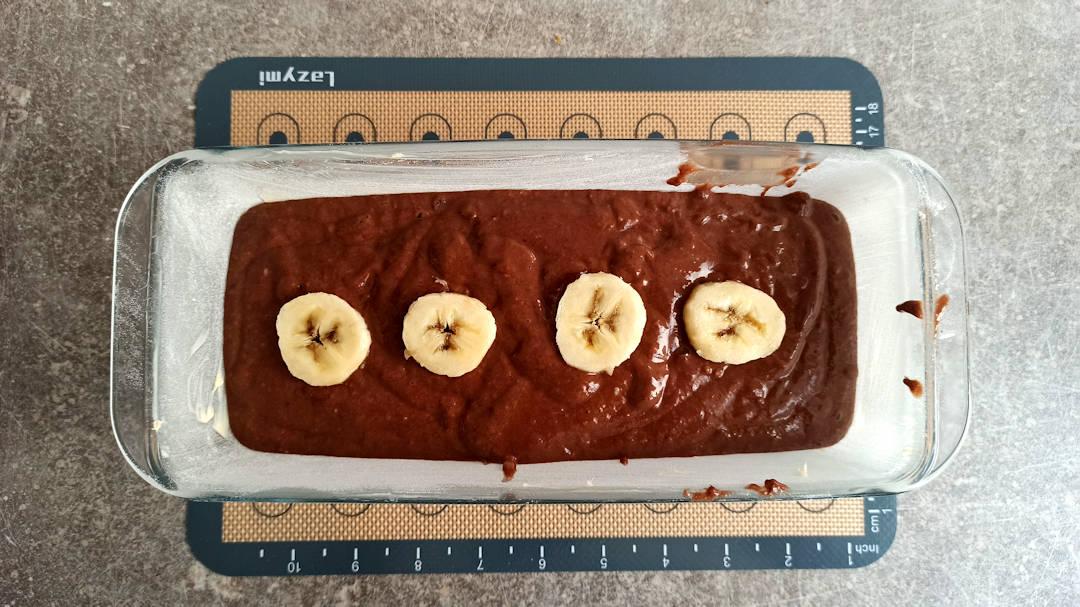 Décorer avec les rondelles de bananes