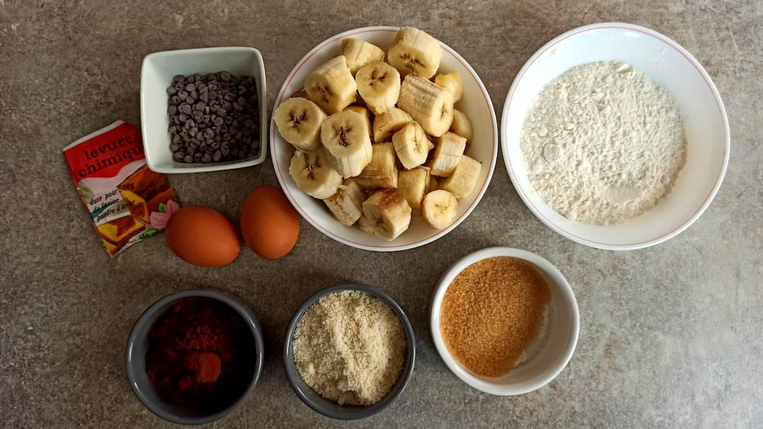 Les ingrédients du banana bread weight watchers